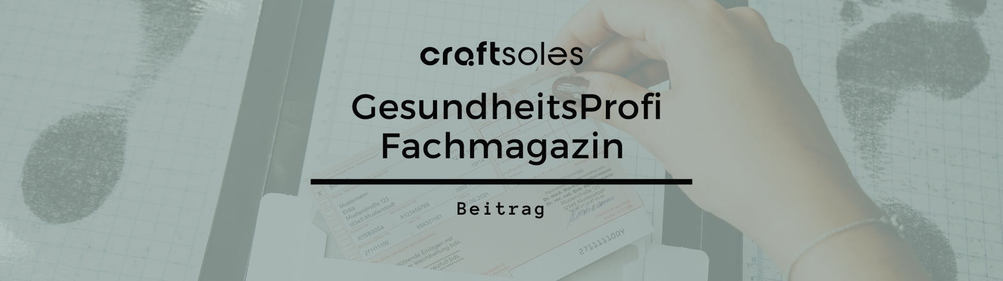 Gesundheitsprofi craftsoles widerspricht