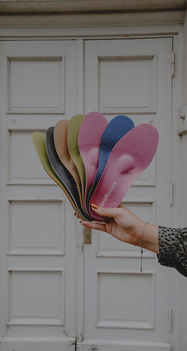 Einlagen Auswahl verschiedene Schuhtypen