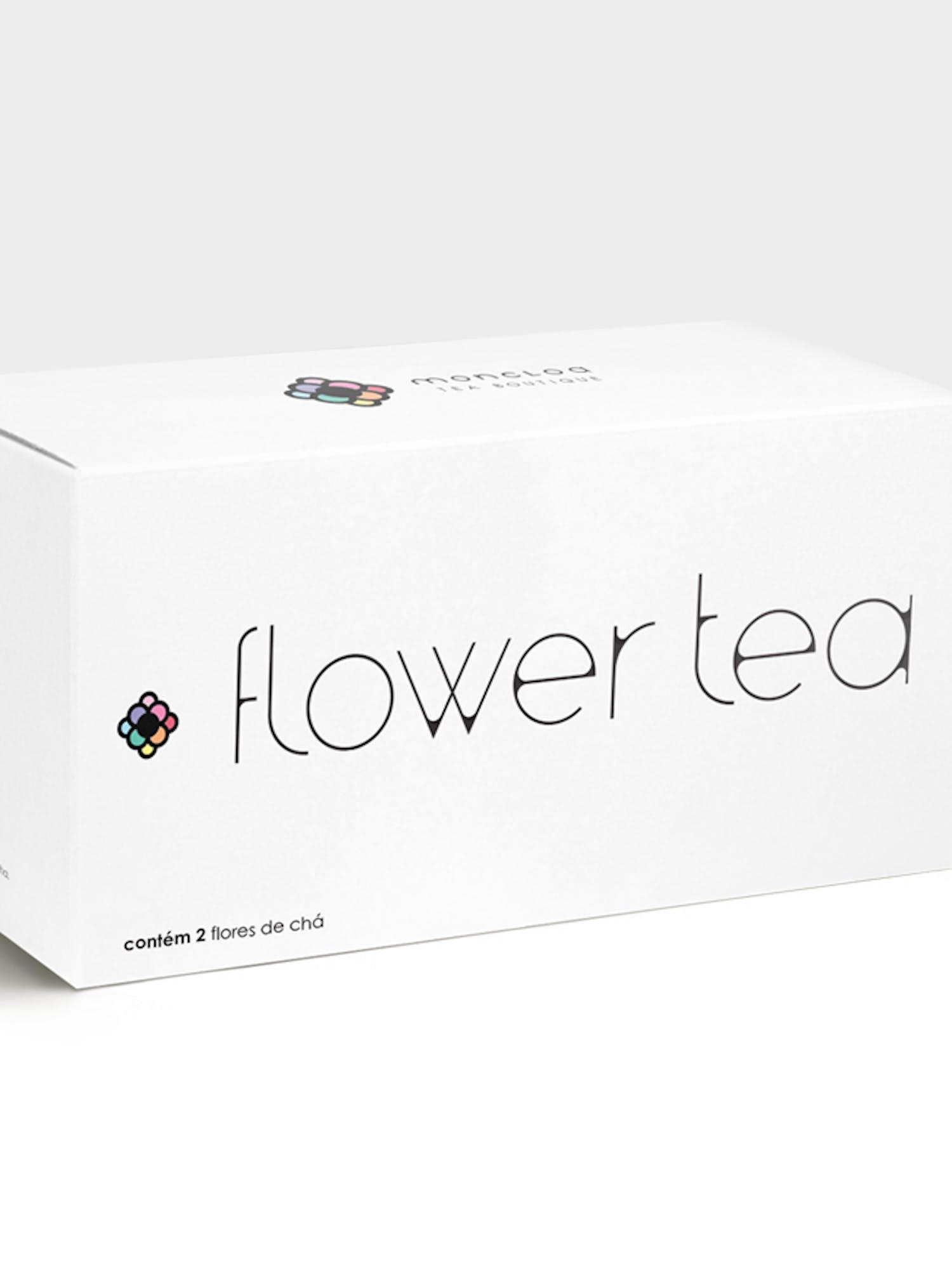 Imagem de uma caixa de chá na cor branco.