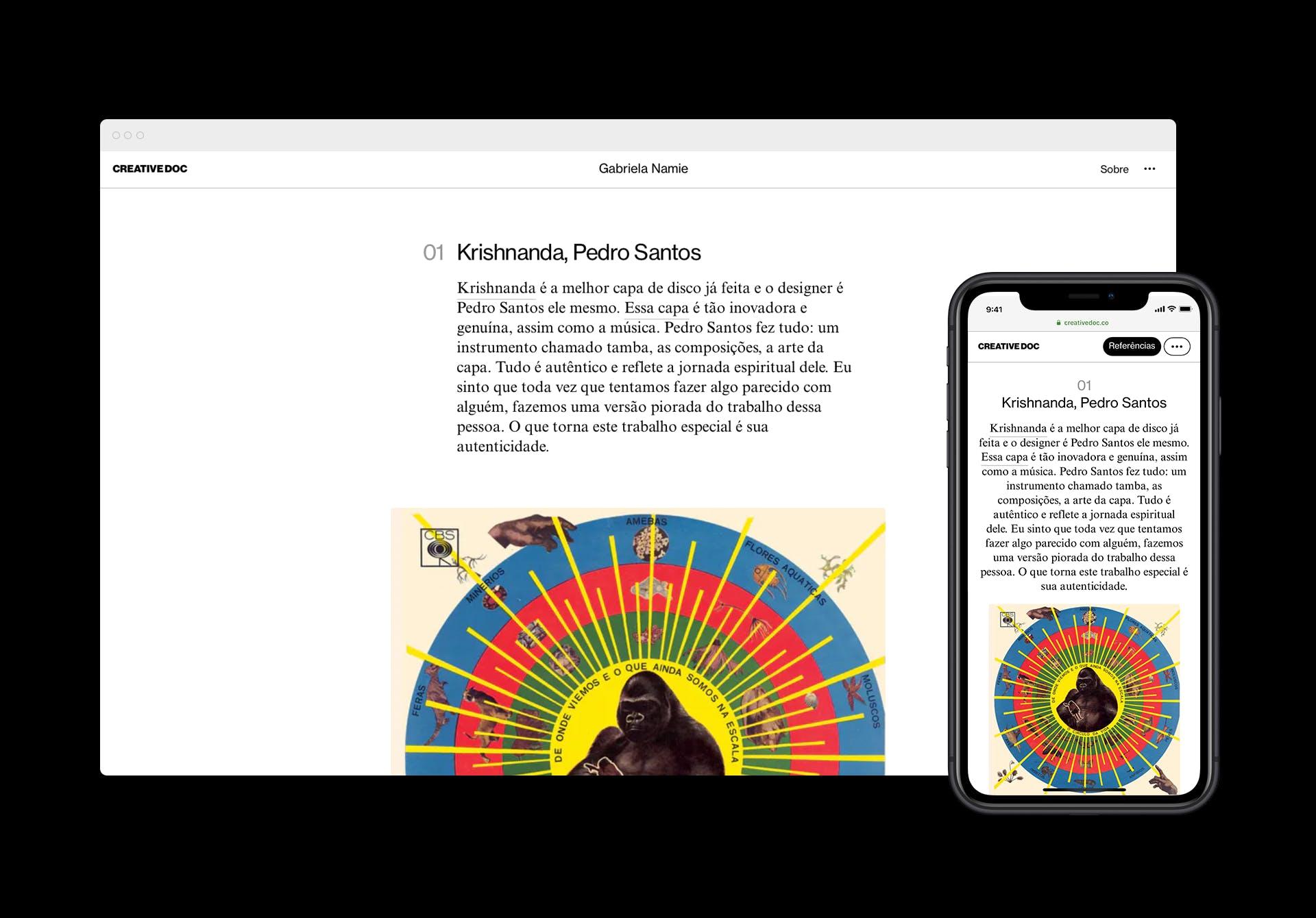 Imagem contendo interface gráfica do site.