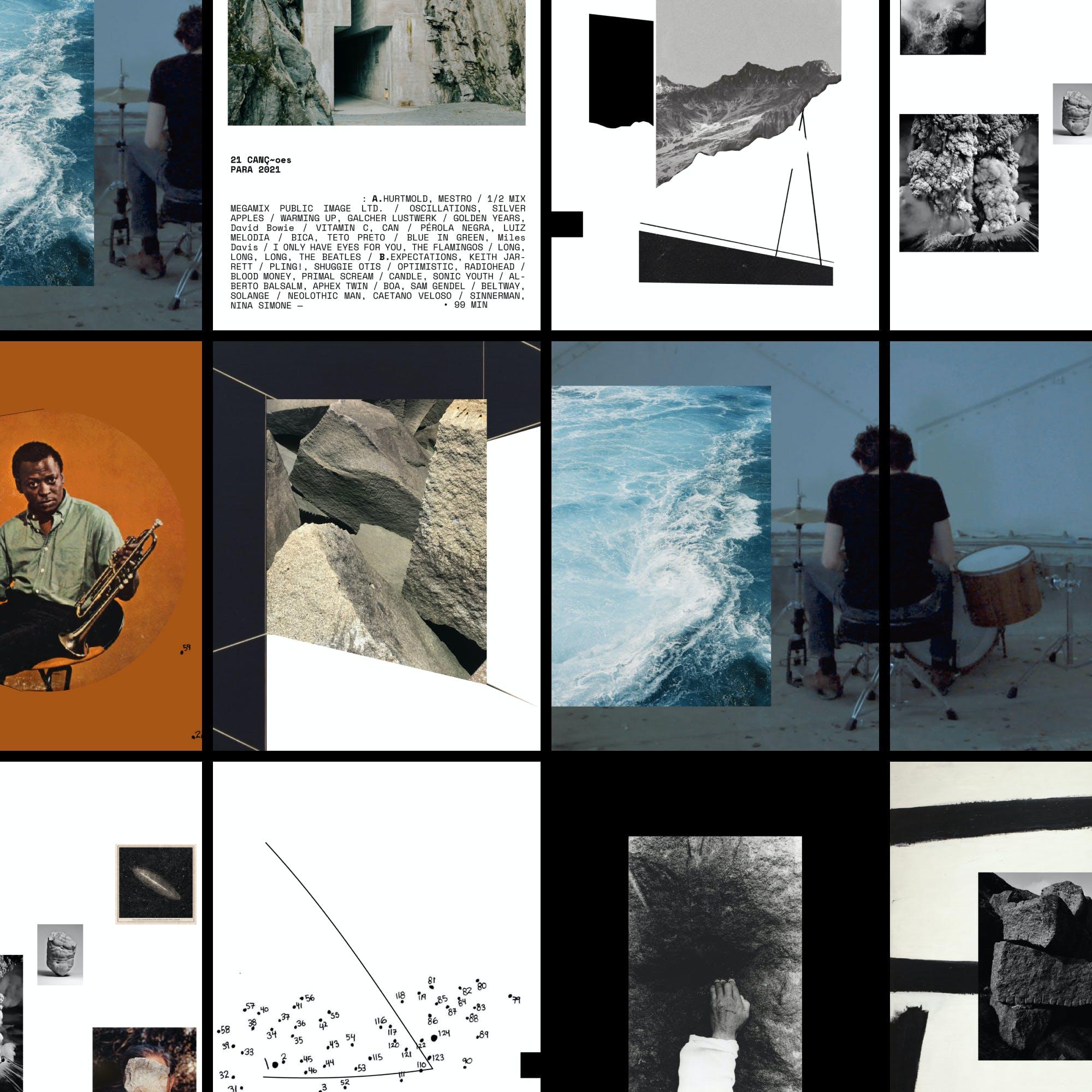 Sequencia de imagens de ensaio visual de Guilherme Falcão.