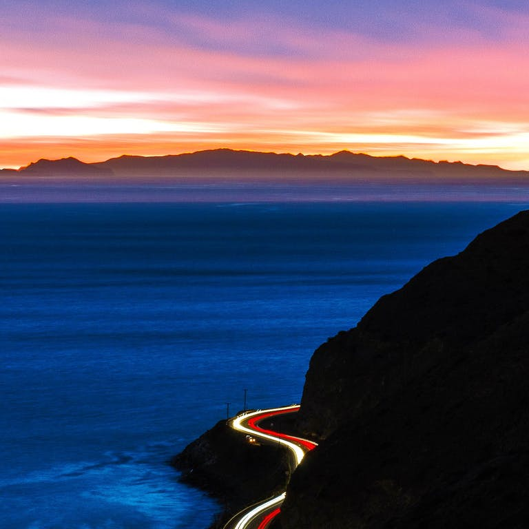 Highway 1 on the way to Los Angeles, California