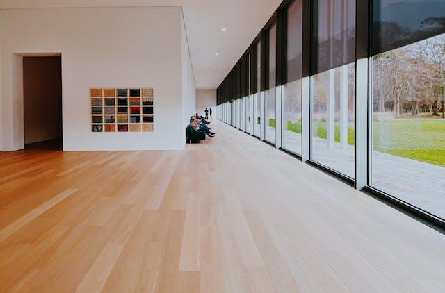 A brand new wooden floor