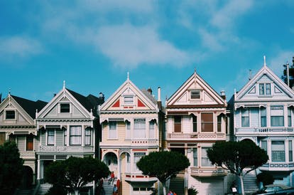 Row of houses in SF