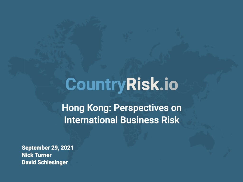 Webinar: Hong Kong: Perspectives on International Business Risk