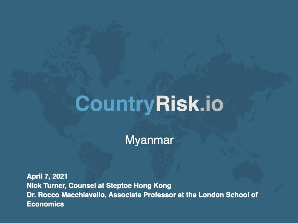 Webinar: Myanmar