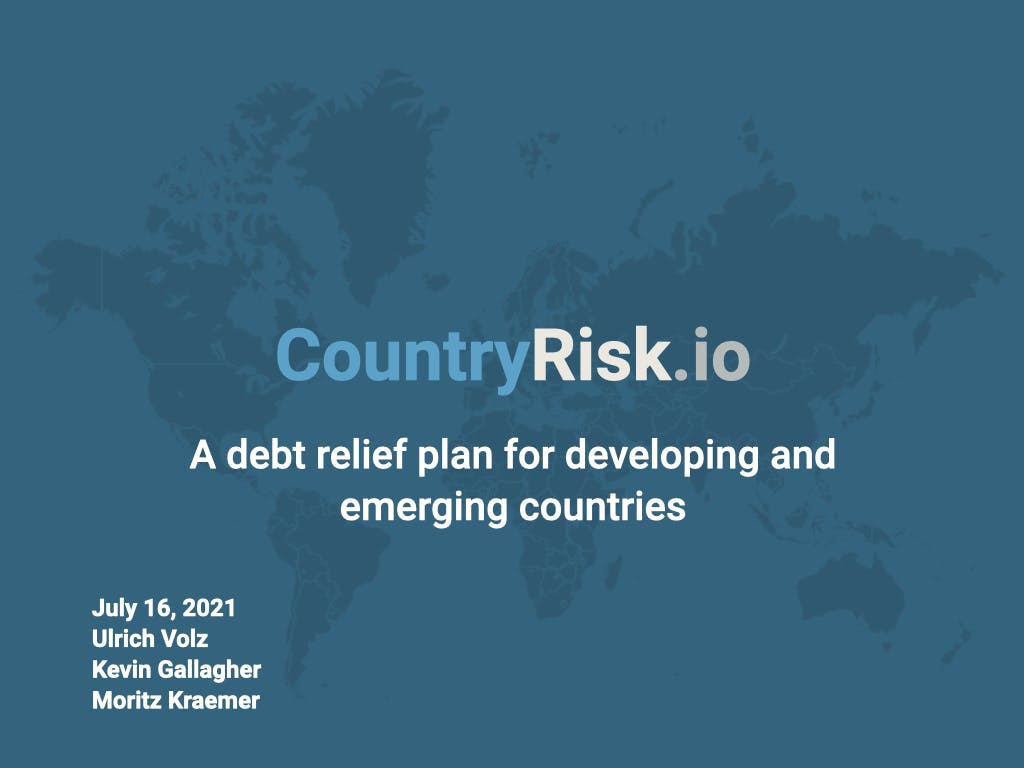 Webinar: A debt relief plan for developing and emerging countries