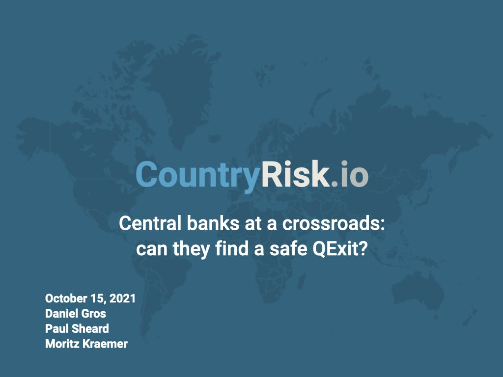Webinar: Central bank at a crossroads: can they find a safe QExit?
