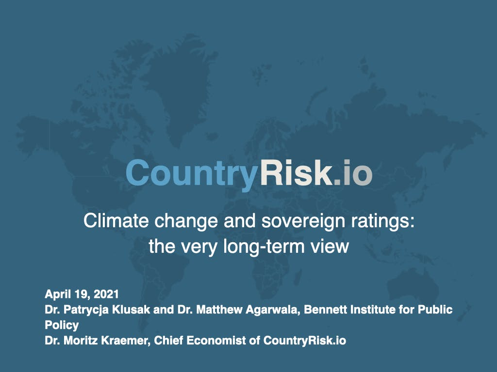 Webinar: Climate change and sovereign ratings: the very long-term view
