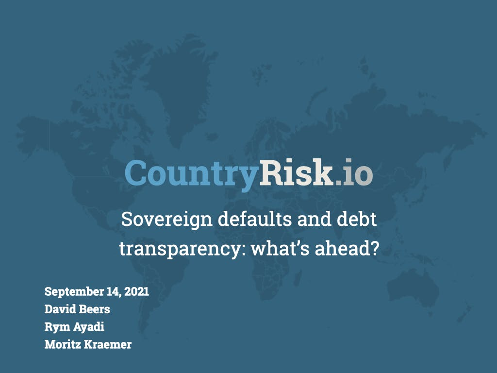 Webinar: Sovereign defaults and debt transparency: what's ahead?