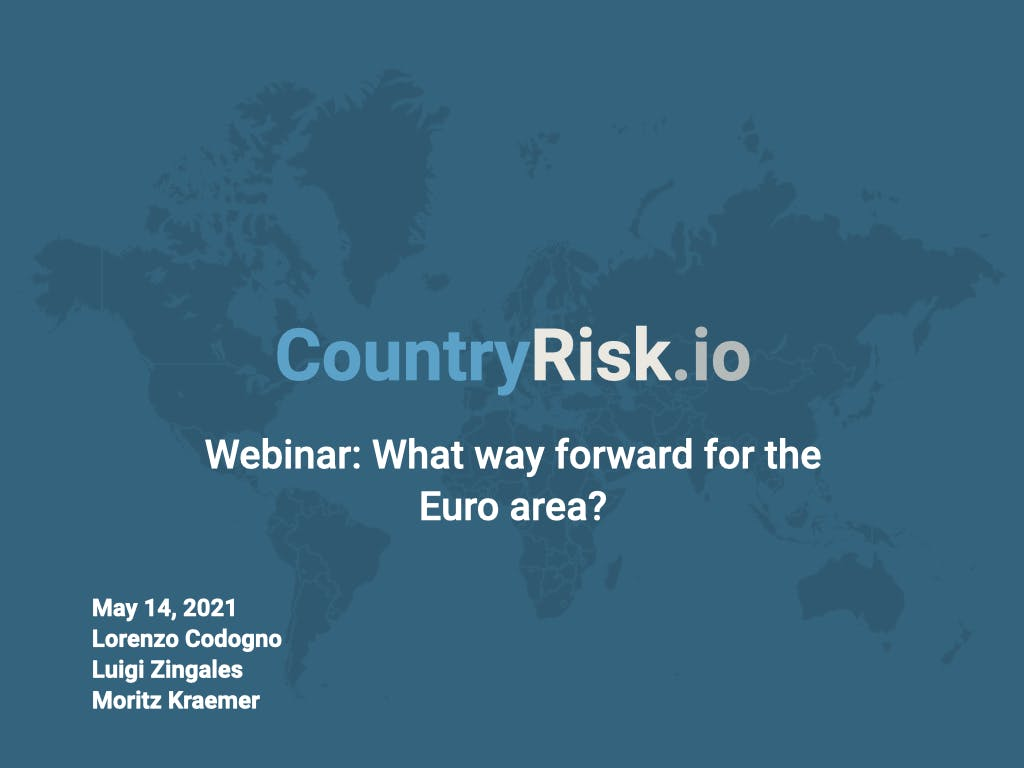 Webinar: What way forward for the Euro area?