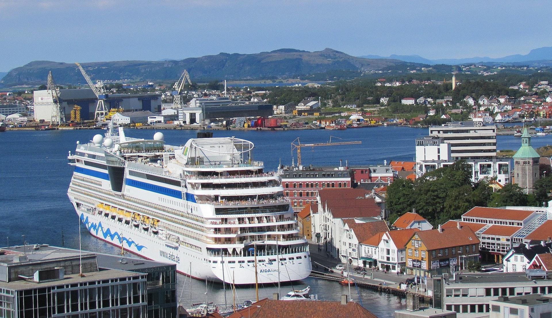 Cruiseskip i havn, Stavanger © Marie Schneider, Pixabay