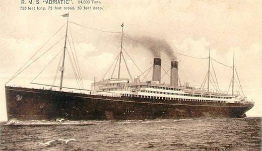 White Star Lines «Adriatic», postkort @Wikimedia Commons
