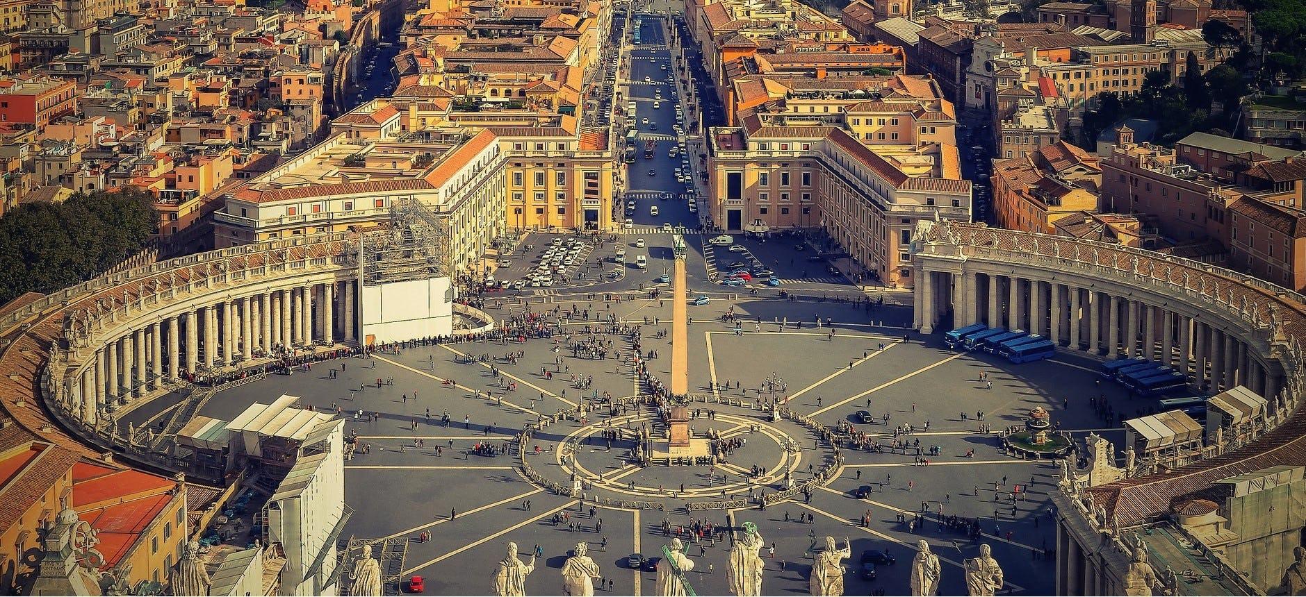 Roma med Petersplassen © Walterssk, Pixabay