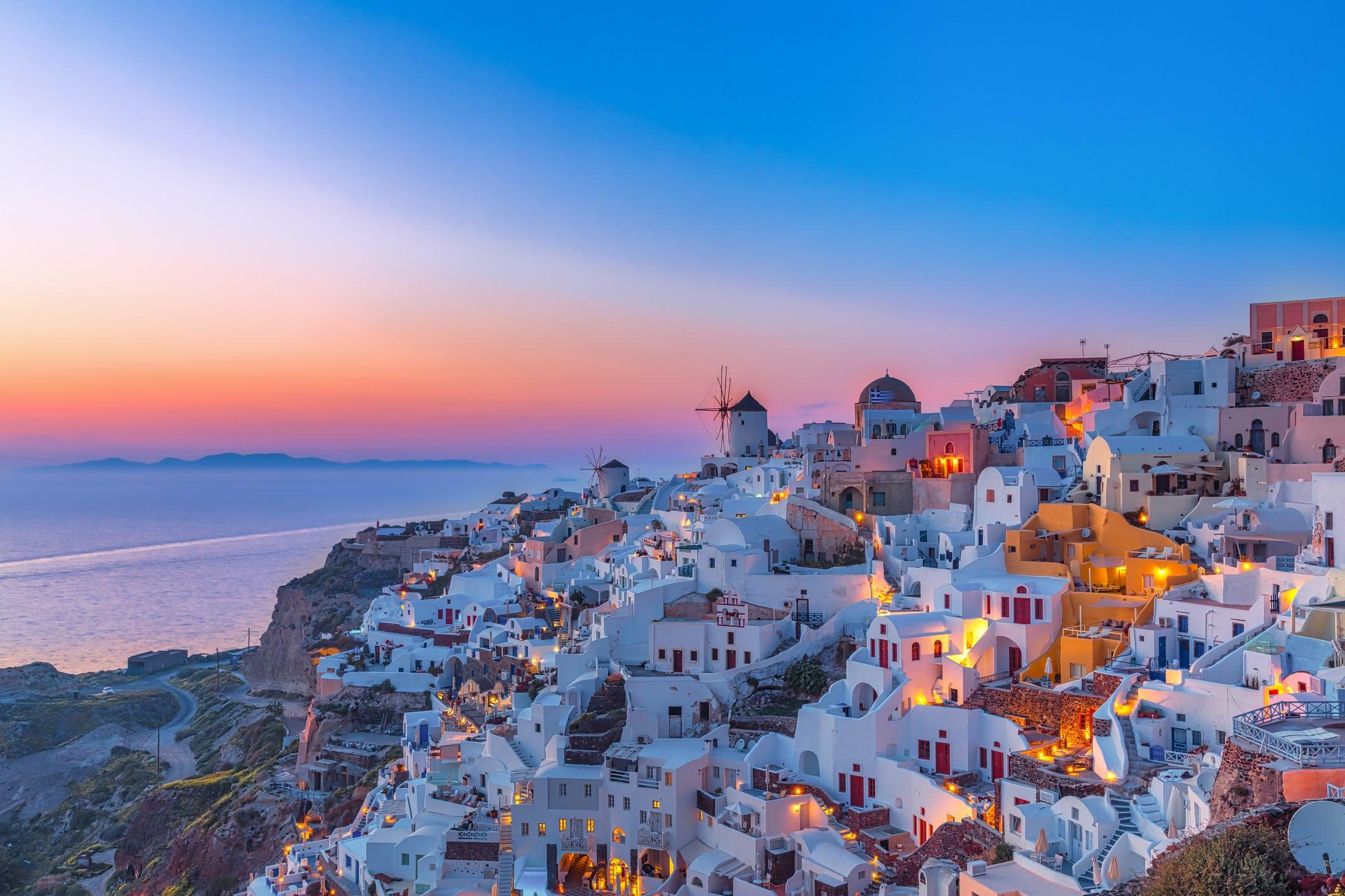Oia Santorini, Hellas, Middelhavet @VogelSP, Getty Images
