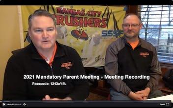 2021 Mandatory Parent Meeting Recording