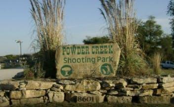 Entrance sign at Powder Creek shooting park