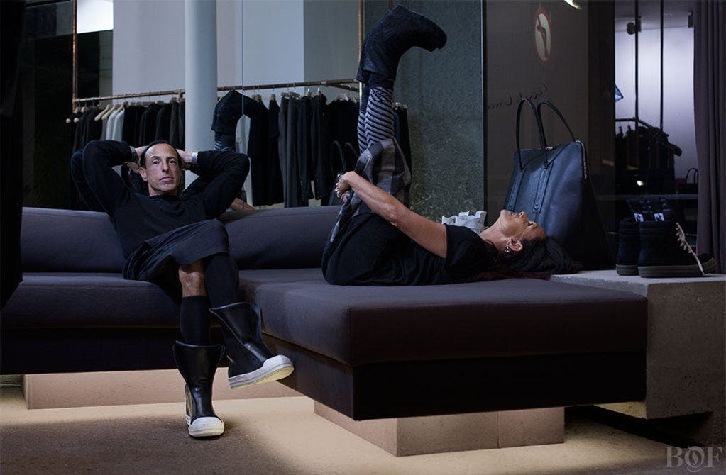 MICHELE LAMY'S CONTRIBUTION TO RICK OWENS DESIGN