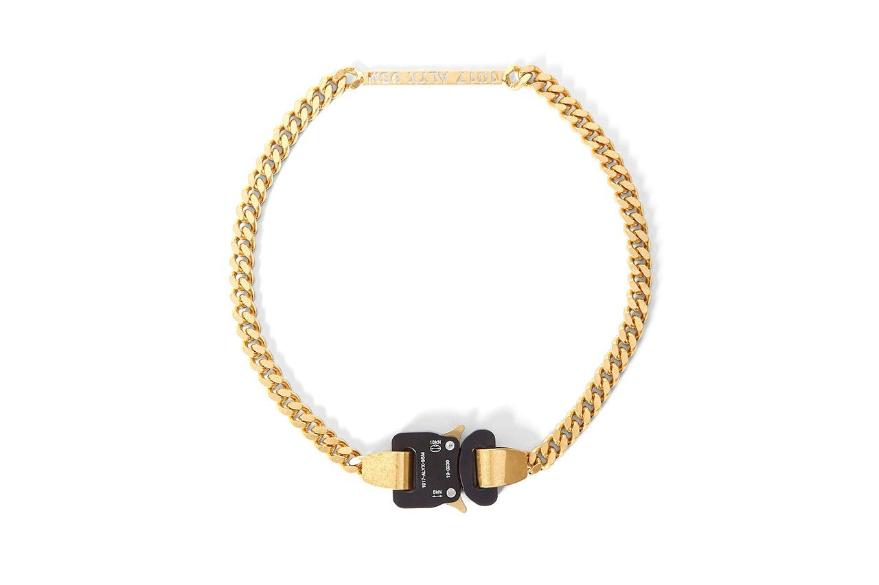 1017 ALYX 9SM Signature Buckle Necklace.