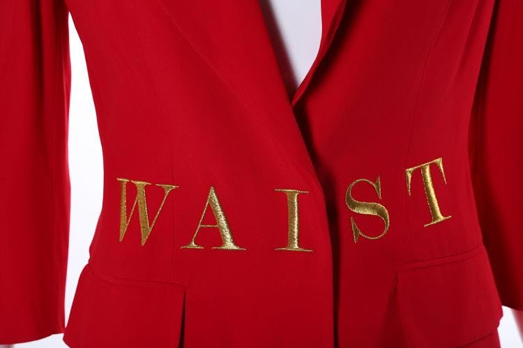 POLITICAL FASHION: MOSCHINO'S WAIST OF MONEY JACKET