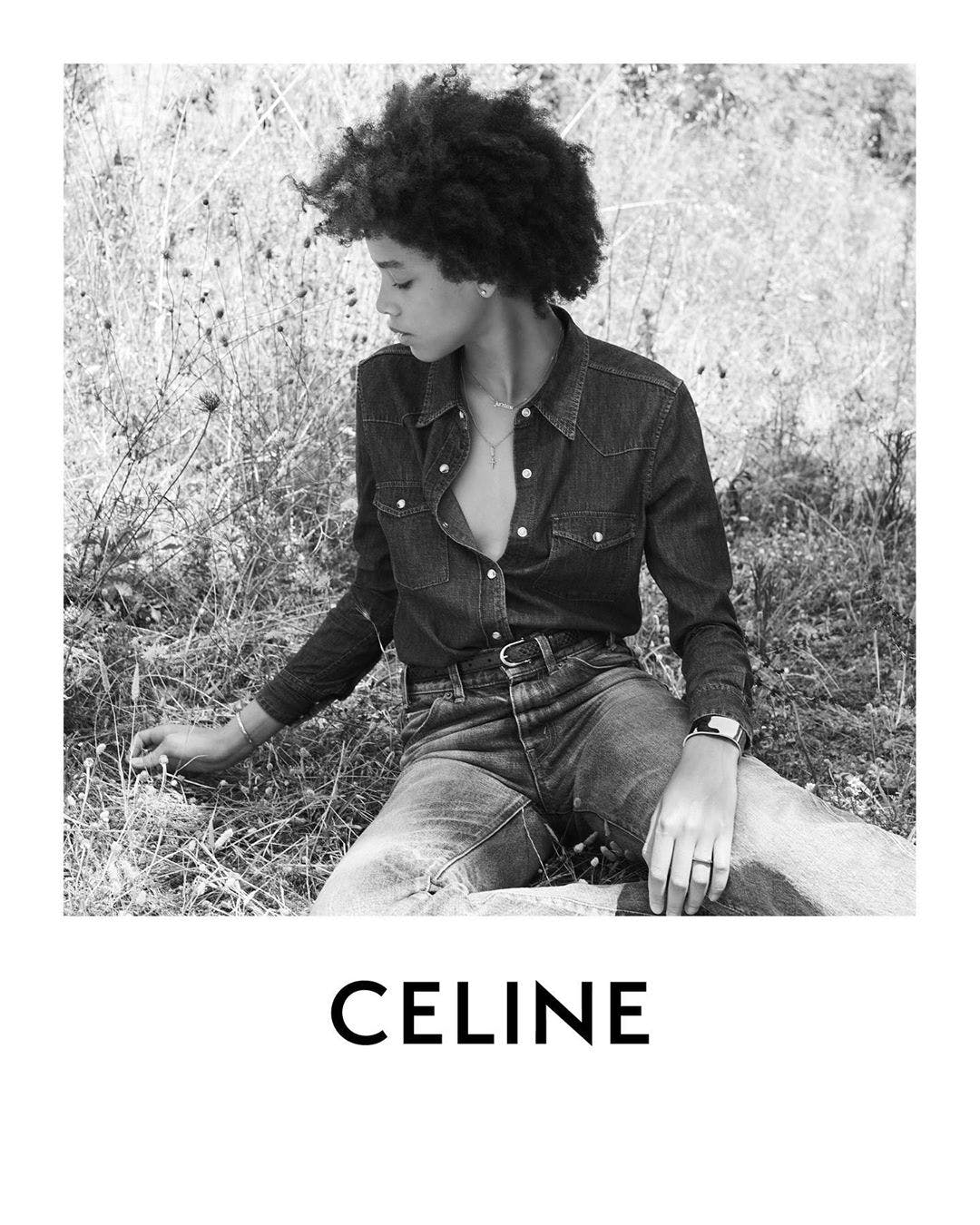 Celine Fall 2020 Ad Campaign with Essoye Mombot.