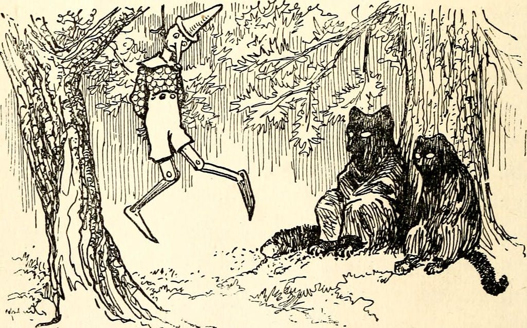 The Cat and the Fox Hanged Pinocchio at the End of the Fifteenth Chapter