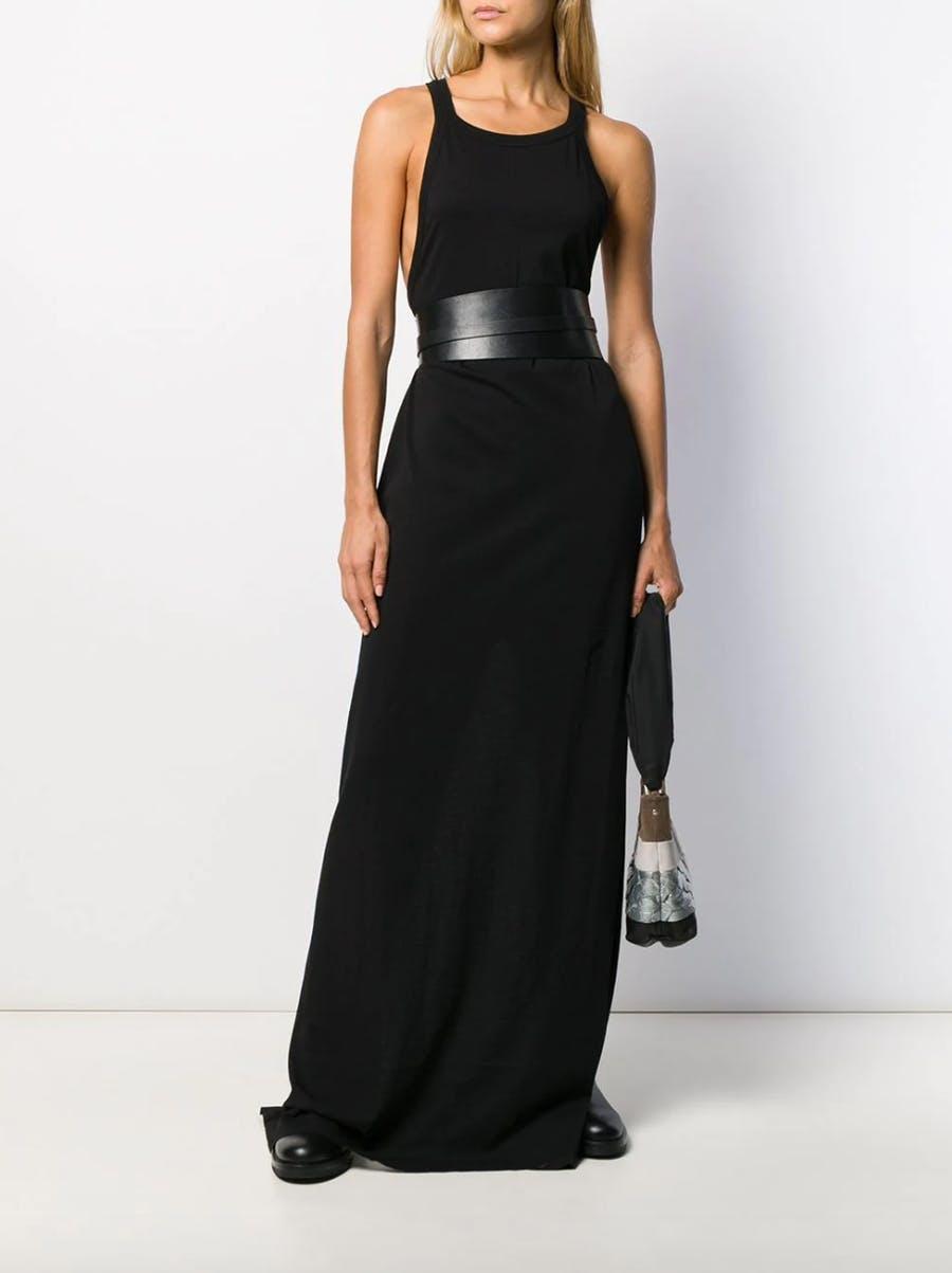 Rick Owens Drkshdw Sleeveless Long Dress in Black
