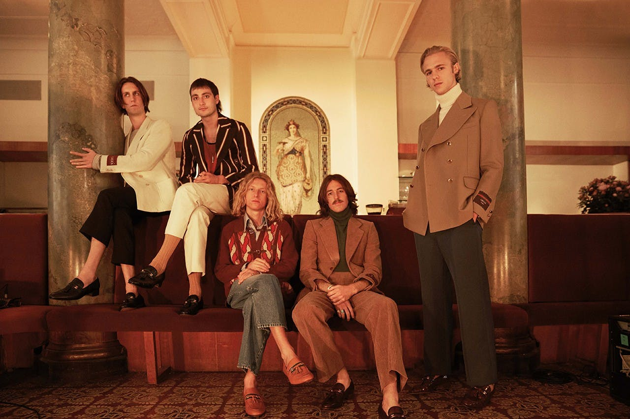 The Australian, Berlin-based band Parcels performs in Gucci's latest menswear.