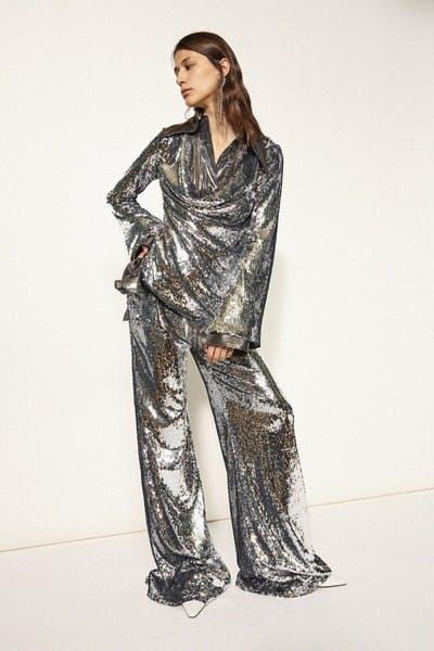 Ellery Wrap Sequin Jacket Sweet Sweet Wide Leg Flare Fall 19 RTW