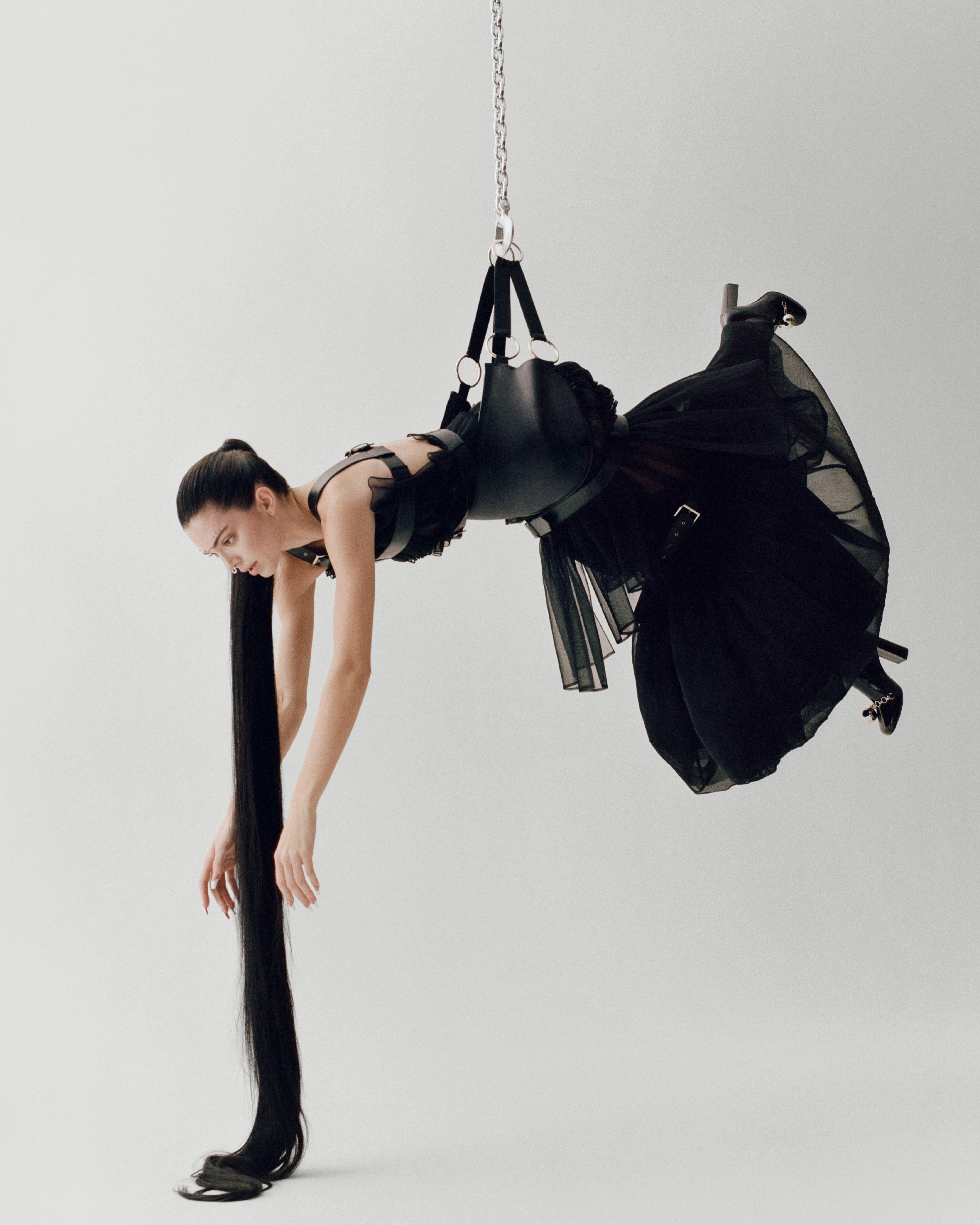Kendall Jenner By Maurizio Cattelan Photographed by Campbell Addy For Garage Magazine Dress by Noir Kei Ninomiya