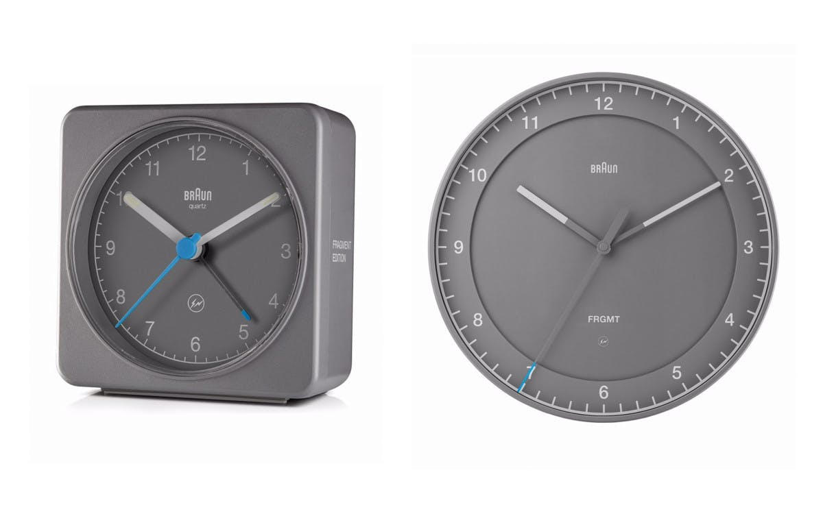 FRAGMENT DESIGN AND BRAUN COLLABORATE ON CLOCKS TO LAUNCH DIETER RAMS EXHIBITION IN JAPAN
