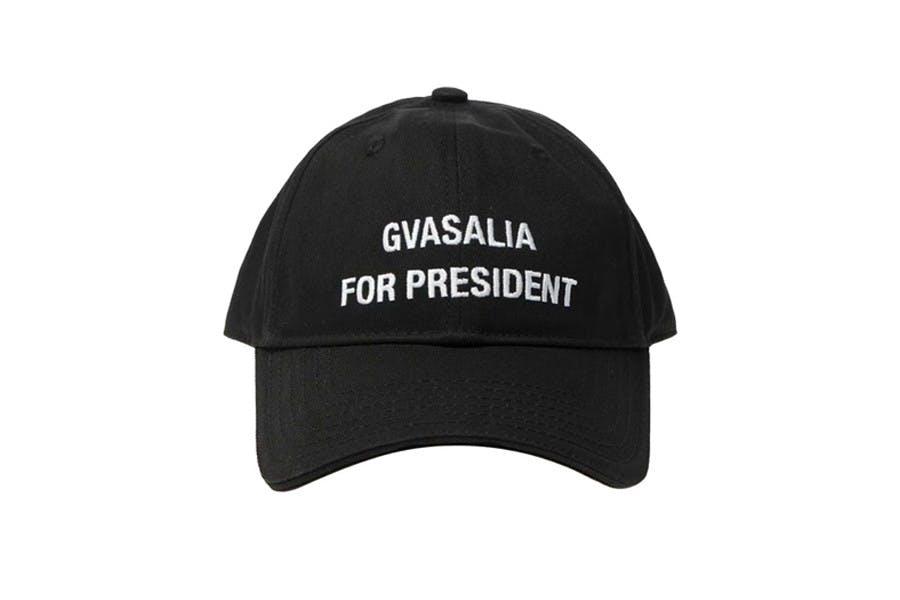GVASALIA FOR PRESIDENT NEW VETEMENTS CAP
