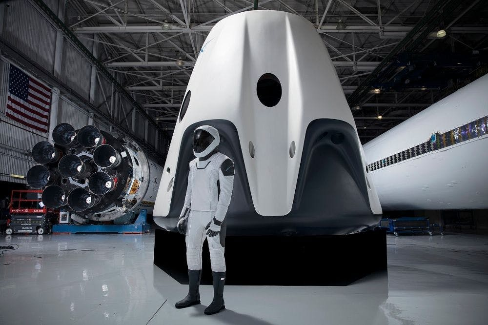 ELON MUSK'S SPACEX ASTRONAUT SUIT: DRESSED BY HOLLYWOOD