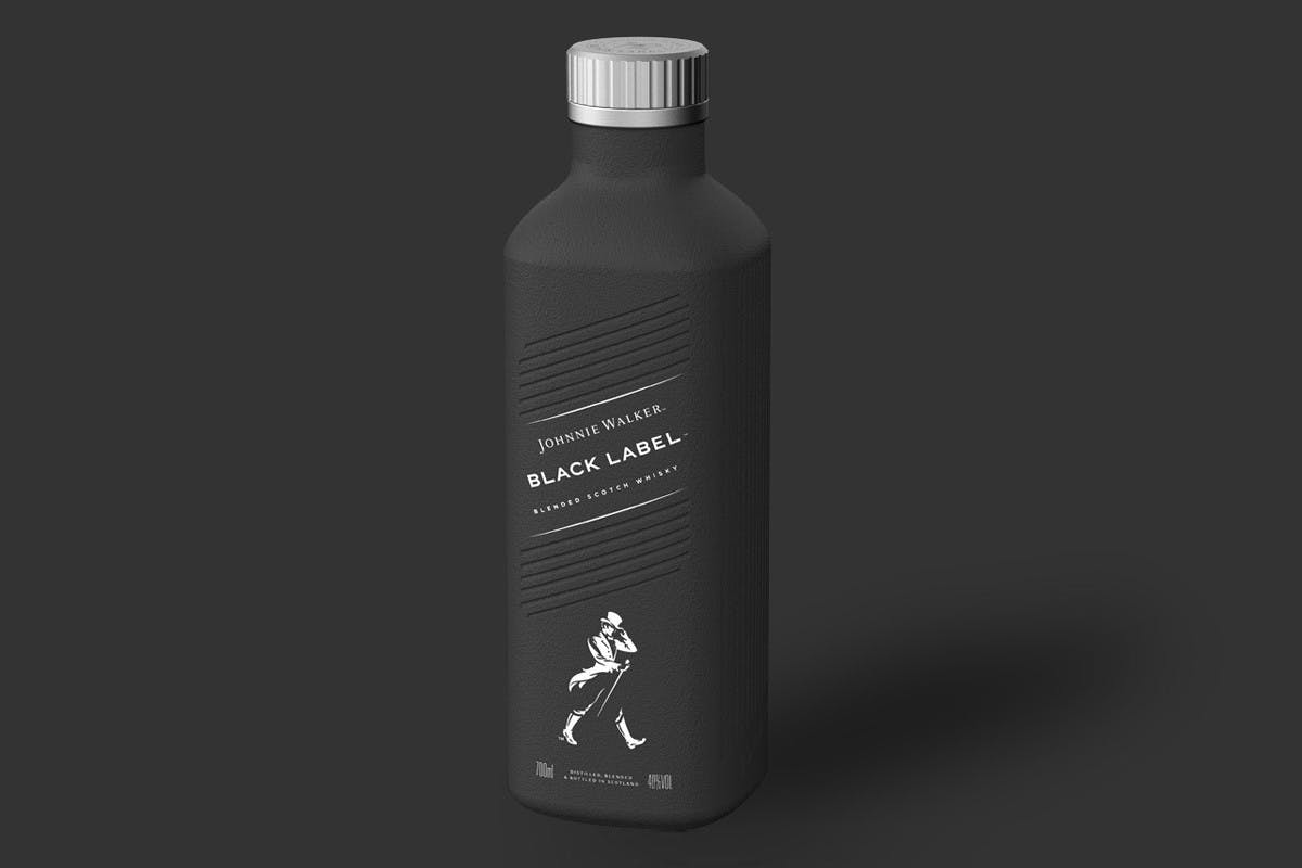 2021: JOHNNIE WALKER WHISKY WILL BE SOLD IN PAPER BOTTLES