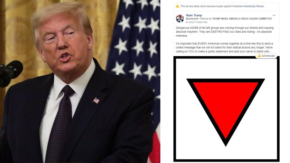 FACEBOOK BANNED TRUMP FOR USING A NAZI SYMBOL