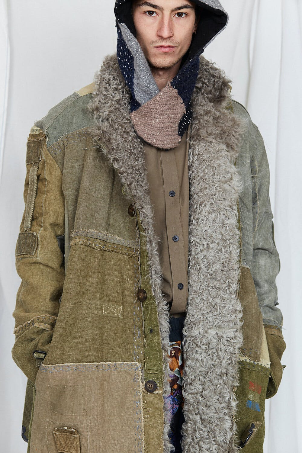 By Walid Campaign Patch Work Tapstery Coat AW20