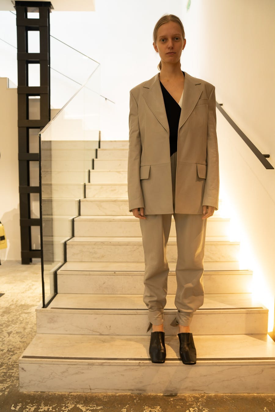Proenza Schouler Blazer in Grey Ankle Tie Pants in Grey Spring 20 RTW