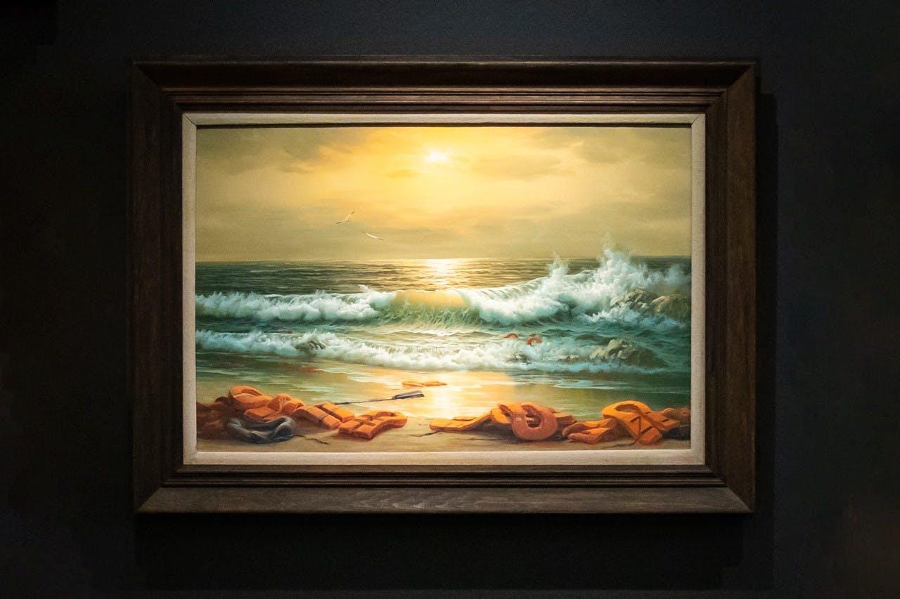 Banksy's Mediterranean Sea View.