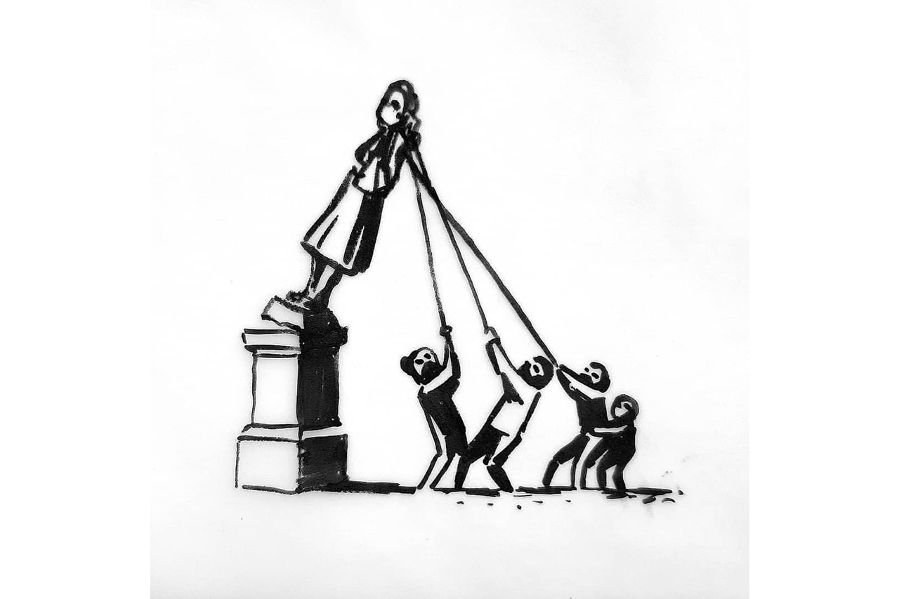 BANKSY'S PROPOSAL TO REPLACE EDWARD COLSTON STATUE IN BRISTOL