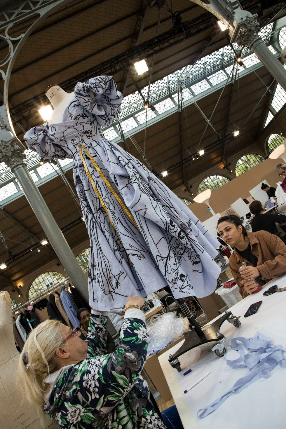 Central Saint Martins students at The Stitch School.