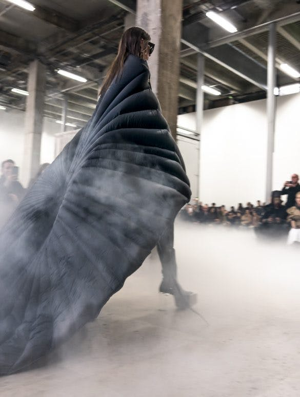 Rick Owens Runway Long Padded Cape Kowboy Grill Kiss Boots With Transparent Heel Womens FW20 Performa