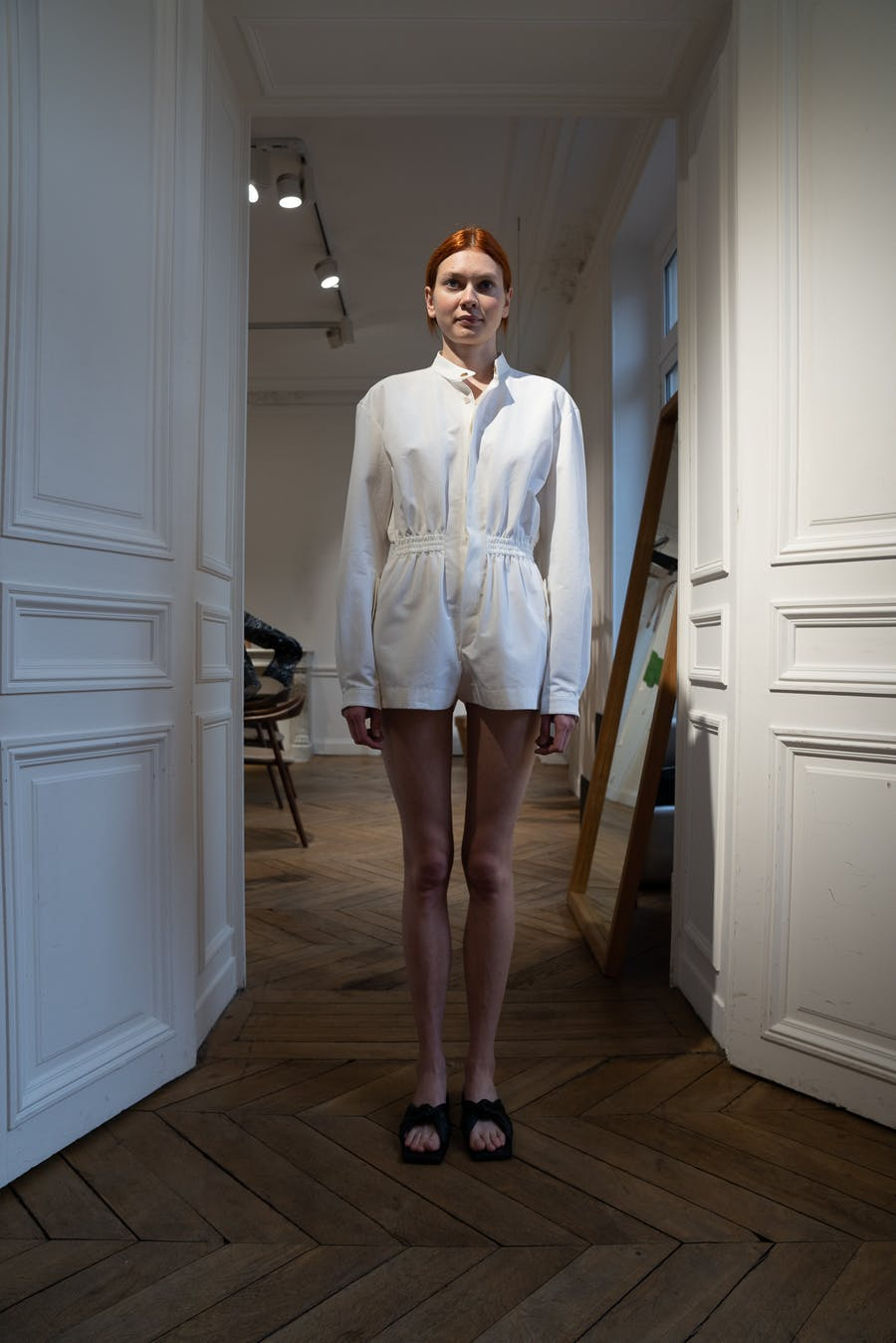 Dion Lee Backstage Boiler Suit in White Spring 20 RTW