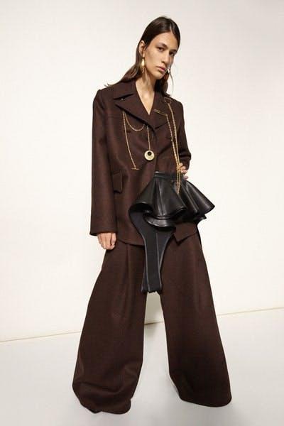 Ellery Oversized Chain Detail Blazer Oversized Trousers Fall 19 RTW