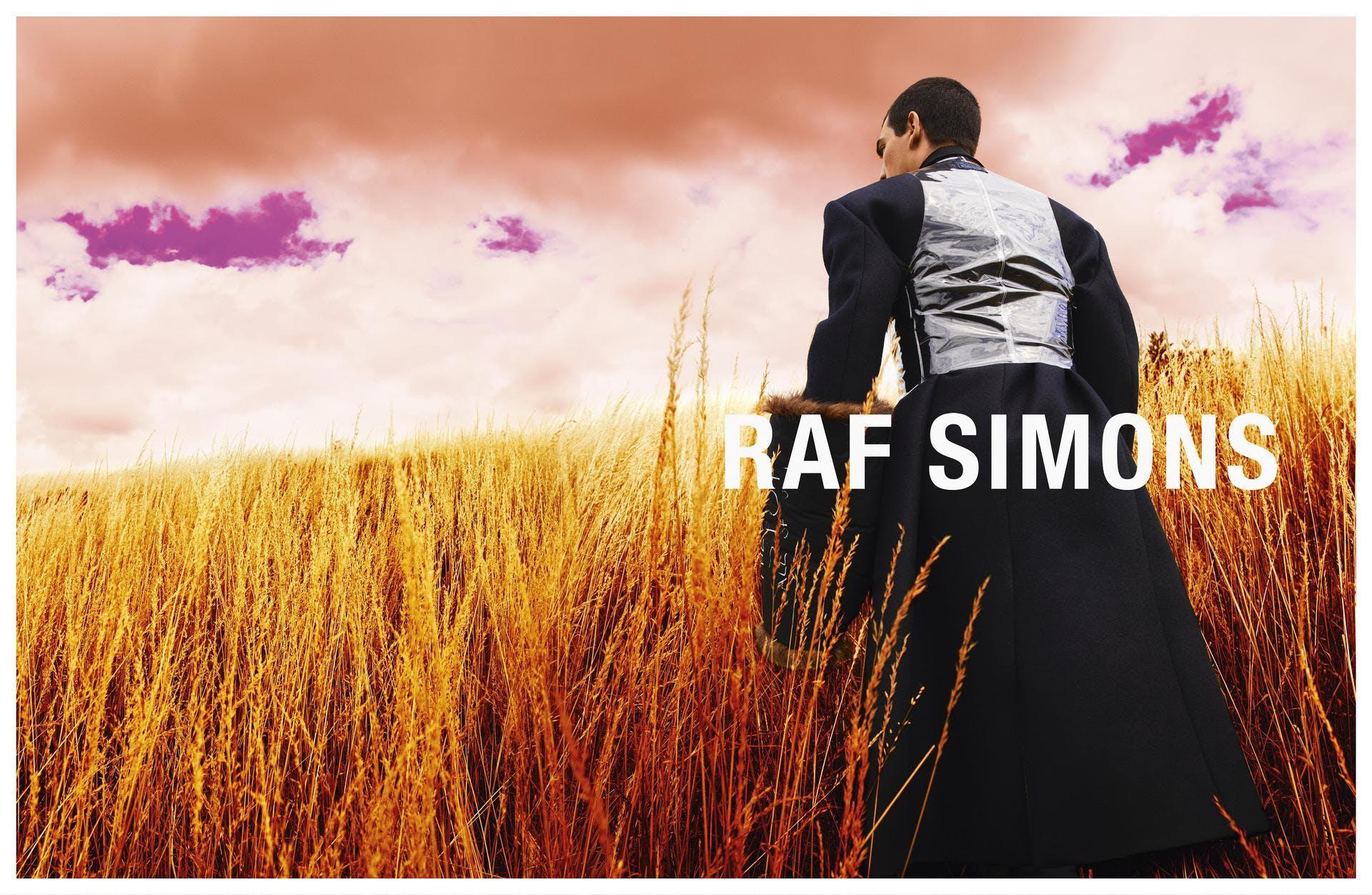 Raf Simons Fall 2020 Ad Campaign.