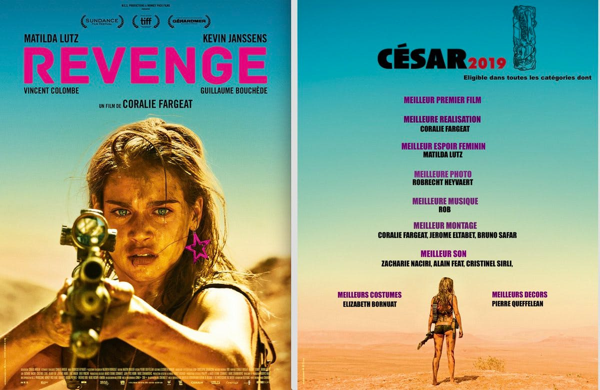 Revenge 2017 directed by Coralie Fargeat starring Matilda Anna Ingrid Lutz.