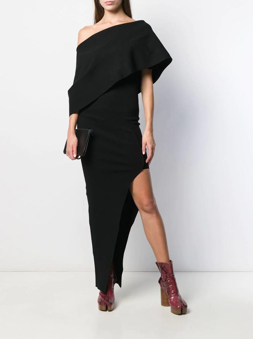 rick owens fw19 larry asymmetrical long dress