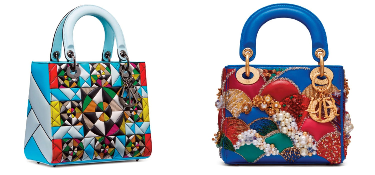 One of Eduardo Terrazas designs for Dior - New Lady Dior art collection.