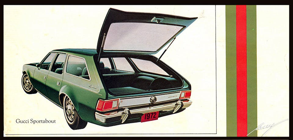 1972 amc hornet gucci sport about edition open trunk