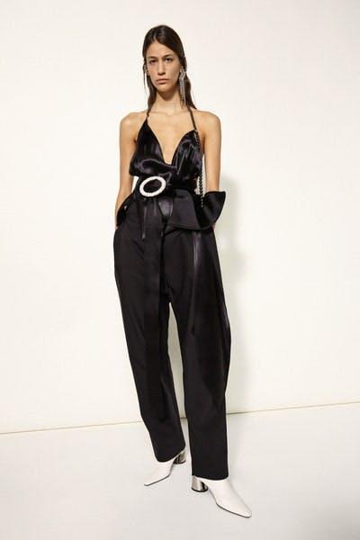 Ellery Beaded Halter Top Oversized Trousers Fall 19 RTW