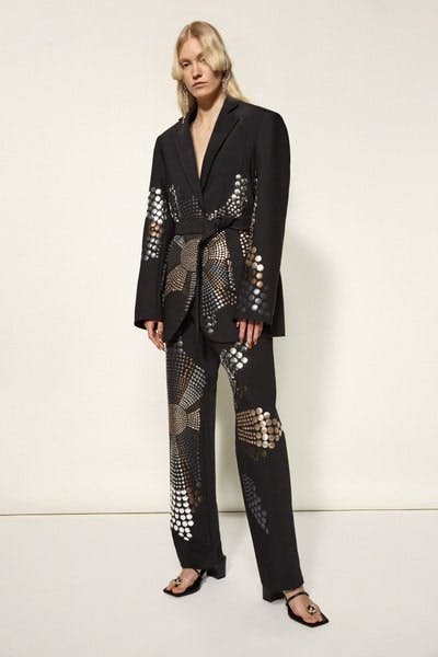 Ellery Studded Belted Blazer Studded Trousers Fall 19 RTW